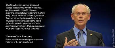 Herman Van Rompuy, ambassador for VVOB