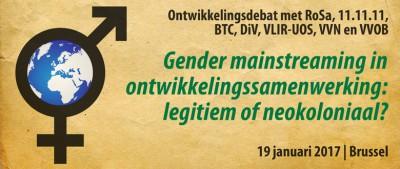 Ontwikkelingsdebat januari 2017 - Gender mainstreaming