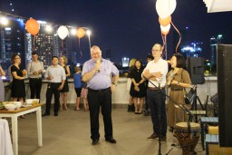 H.E. Paul Jansen, Ambassador of Belgium to Vietnam, joins the celebrations after CITIES' launch at the Da Nang Fireworks Festival