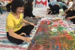 A group of international and national artists exposed participants to applied artistic practices to build socio-emotional skills and resilience
