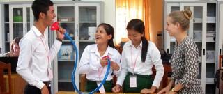 """Chiara Eggers ging op lerarenstage in het Cambodja: """"Veel bijgeleerd op multicultureel vlak"""""""