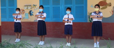 "Cambodia learners do the ""equality"" sign"