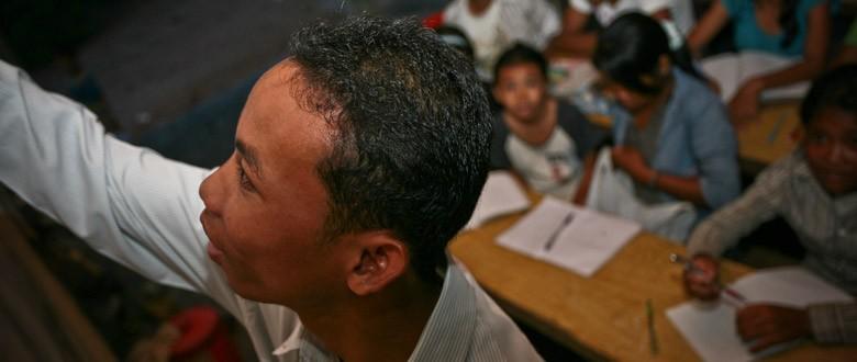 Klasse op bezoek in Cambodja