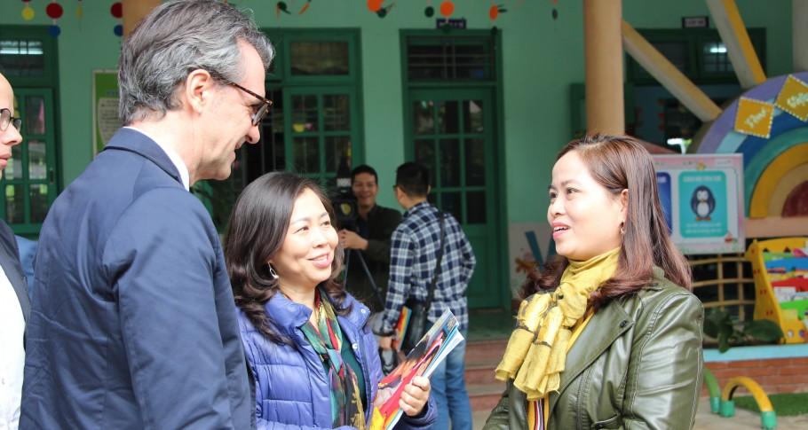 EU Ambassador Giorgio Aliberti visits GENTLE preschools and stakeholders