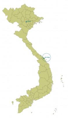 Vietnam Da Nang map highres RGB